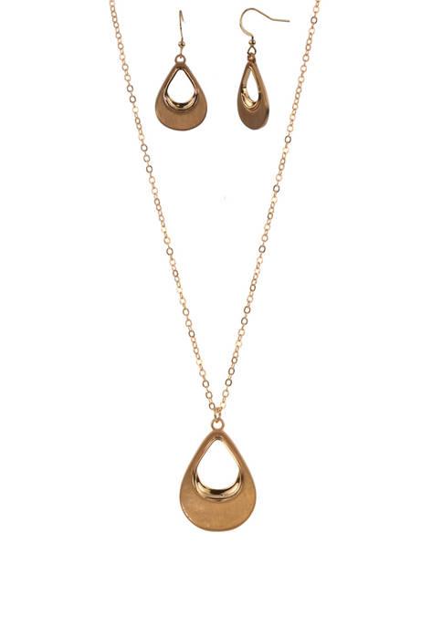 Kim Rogers® Gold Tone Open Teardrop Earring and