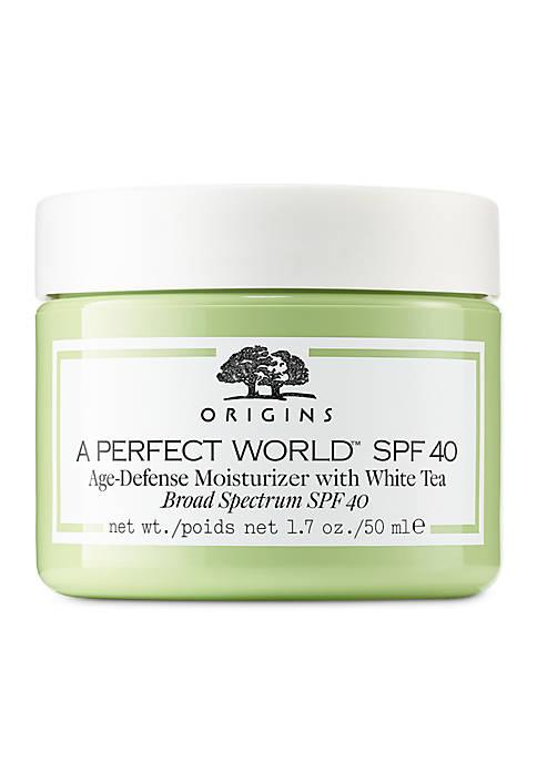Origins A Perfect World SPF 40 Age-Defense Moisturizer