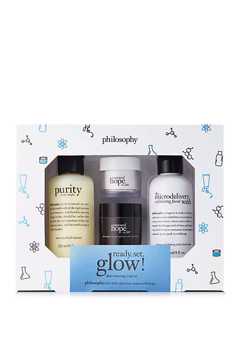philosophy ready set glow skin-renewing set