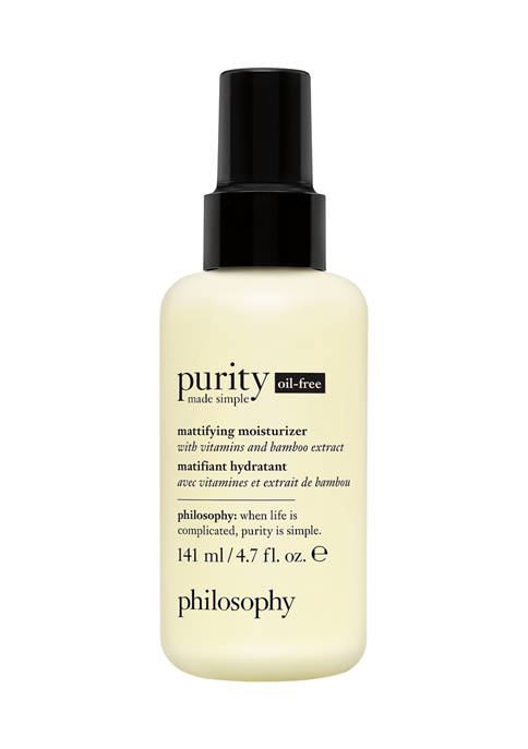 purity made simple oil free mattifying moisturizer with vitamins and bamboo extract 4.7 oz