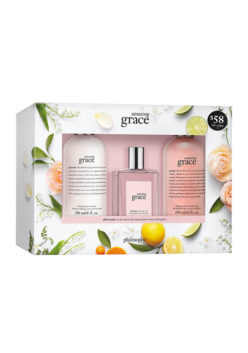philosophy amazing grace three piece giftset