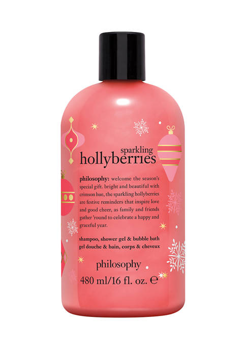philosophy sparkling hollyberries shampoo, shower gel &