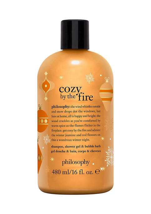 philosophy cozy by the fire shampoo, shower gel