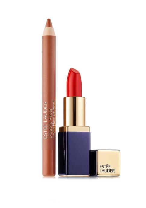 Mini Envy Lipstick & Mini Double Wear Lip Pencil Set