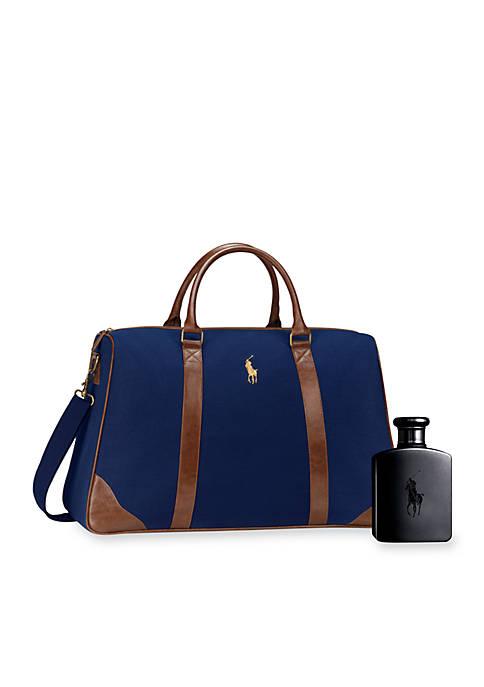 cb64db46ebc2 Ralph Lauren Polo Double Black Duffle Pack On Gift Set. Polo Double Black  Duffle Pack On Gift Set