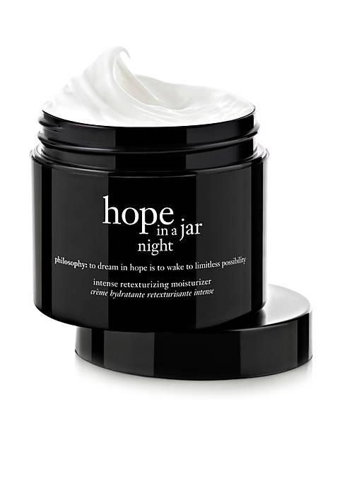 hope in a jar night intensive retexturizing moisturizer