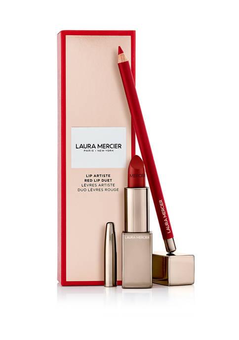 Laura Mercier Lip Artiste Red Lip Duet Set