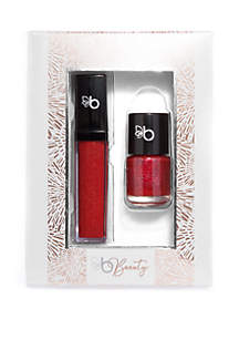 Belk Beauty Glitter & Gloss Duet- Red