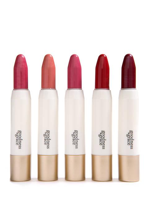 goodness & grace 5 Piece Chubby Lipstick Set