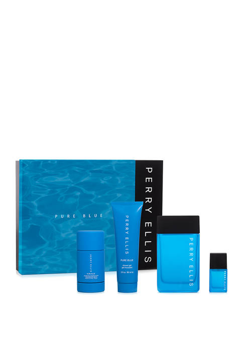 Perry Ellis® PURE BLUE 4-Piece Gift Set