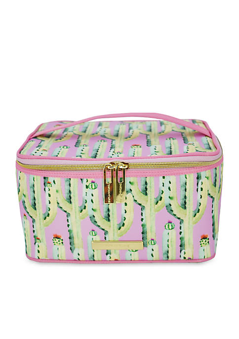 TARTAN + TWINE Cactus Print Train Cosmetics Case