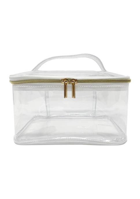 Belk Beauty Clear Cosmetic Bag