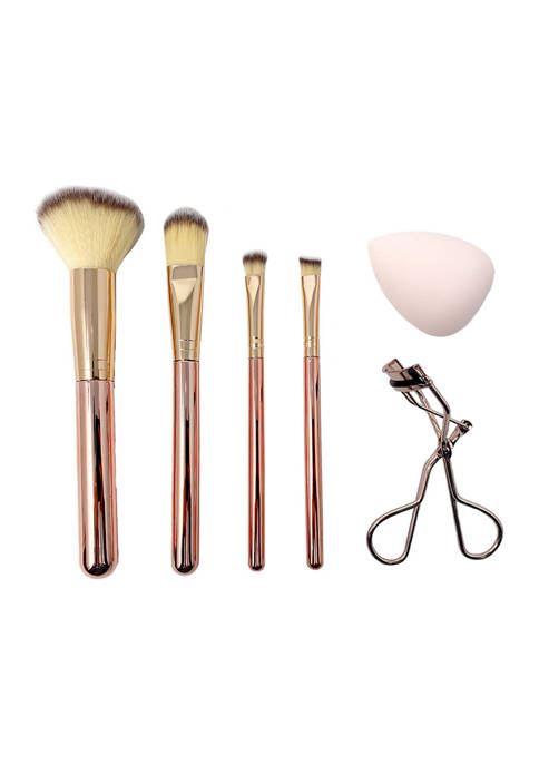 Belk Beauty 6 Piece Rose Gold Cosmetic Tool