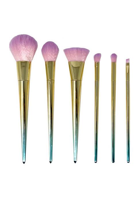 Belk Beauty 6 Piece Variegated Brush Set