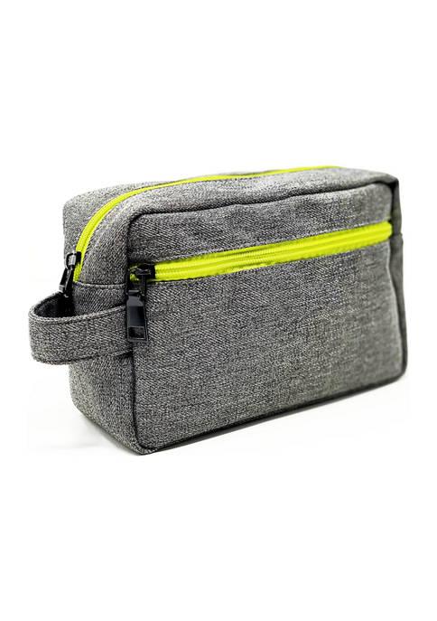 Grey Dopp Bag
