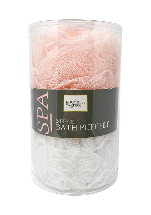 2 Piece Bath Puff Set