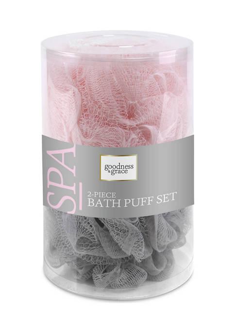 Set of 2 Bath Puffs