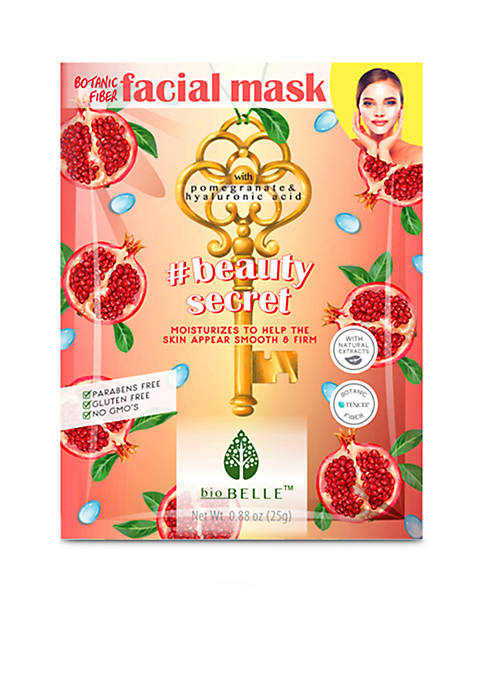 Biobelle #BeautySecret firming sheet mask with Pomegranate and