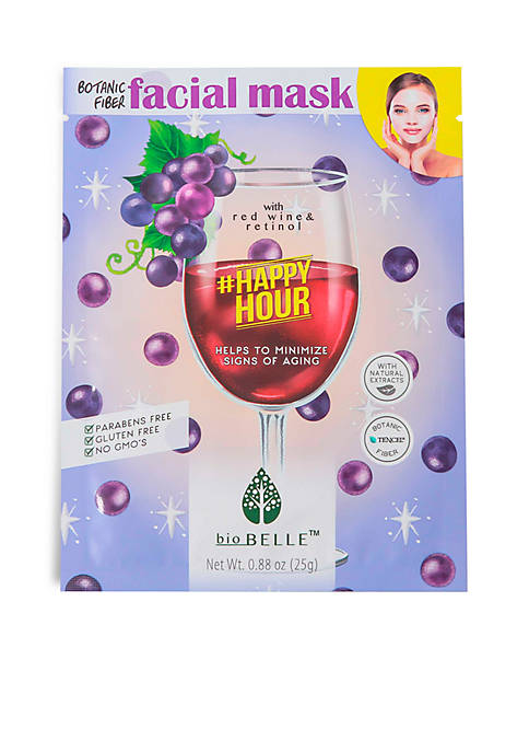 Biobelle #HappyHour Age-prevention sheet mask with Red Wine