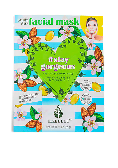 Biobelle #StayGorgeous Hydrating sheetmask with Almond Oil &