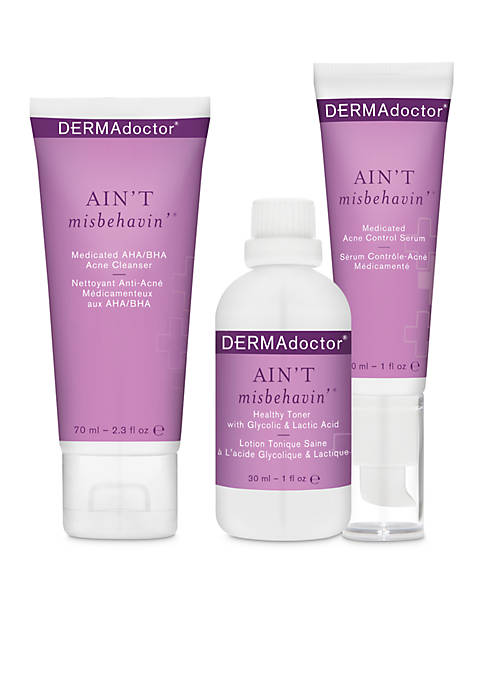 DERMAdoctor® Aint Misbehavin Acne Intro Kit