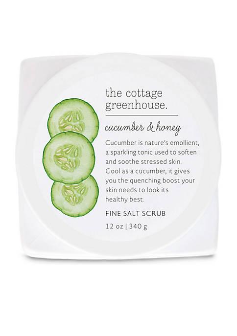 Cucumber & Honey Fine Salt Scrub