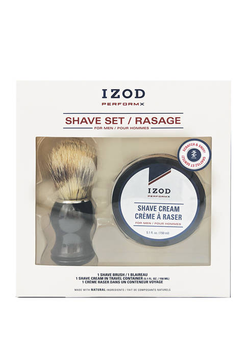IZOD Mens Perform X 2-Piece Shave Cream Set