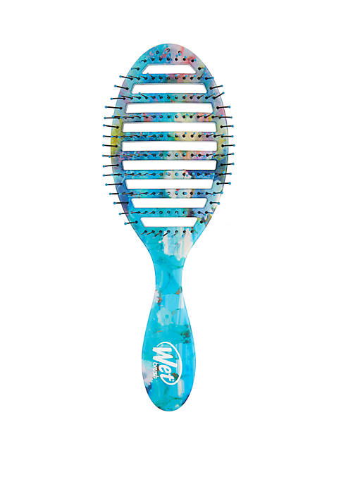Speed Dry Brush - Blue Yellow Floral
