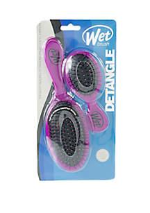 Wet Brush Original + Mini Detangler Brush Duo - Purple