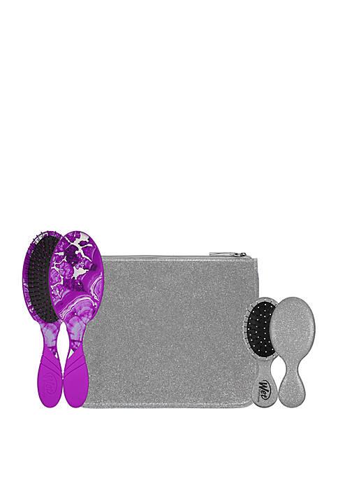 Wet Brush Glitter & Go Detangler Brush Set