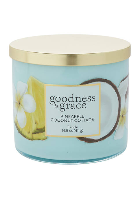 Pineapple Coconut Cottage 3 Wick Candle