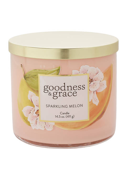 goodness & grace Sparkling Melon 3 Wick Candle