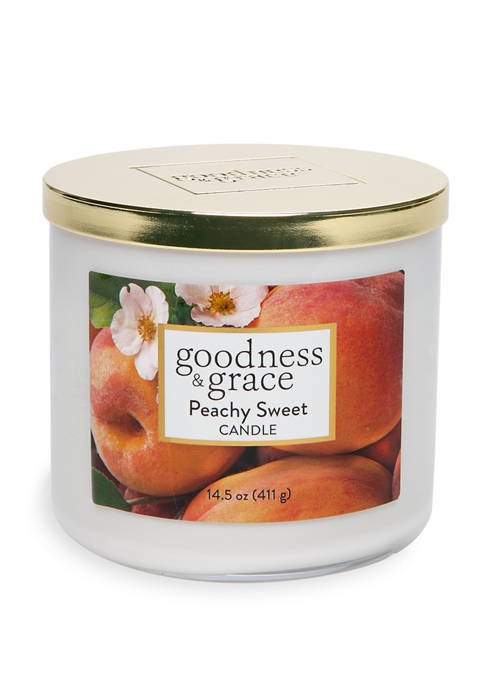 goodness & grace Peachy Sweet 3 Wick Candle