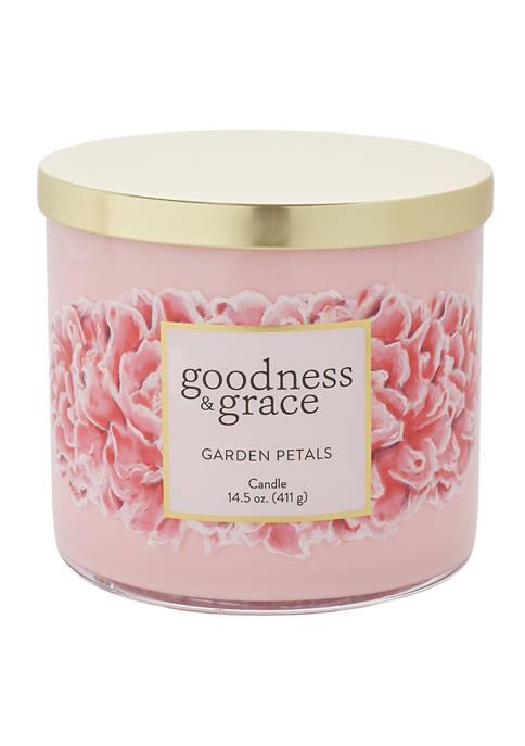 goodness & grace Garden Petals 3 Wick Candle
