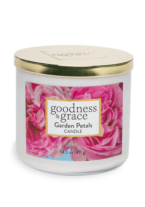 goodness & grace Garden Petals 3 Wick Candle