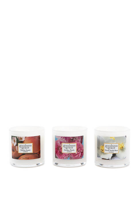 goodness & grace Set of 3 Candles