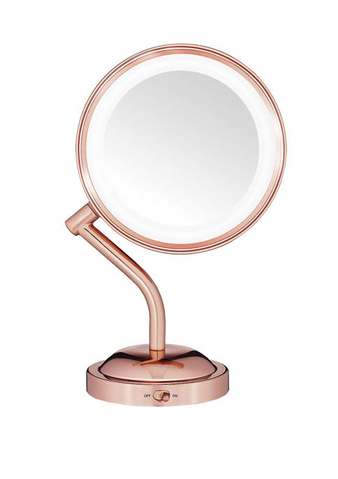 Dual Sided Rose Gold Makeup Mirror