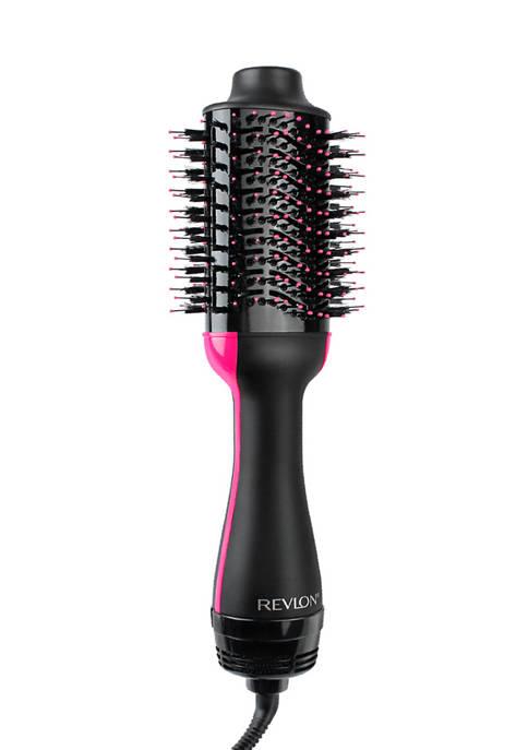 Revlon One-Step Hair Dryer & Volumizer Hot Air Brush, Black/Pink