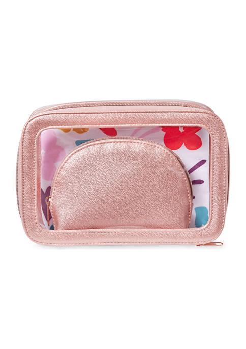 Belk Beauty 3-1 Cosmetic Pouch Set