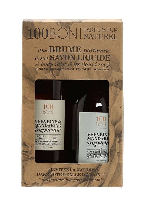 100BON Verveine & Mandarine Bath Set Liquid Soap