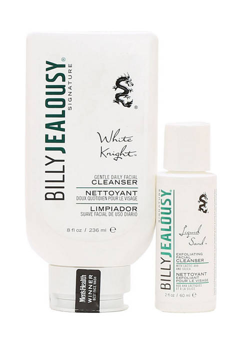 White Knight Daily Facial Cleanser and Liquid Sand Exfoliating Facial Cleanser Duo