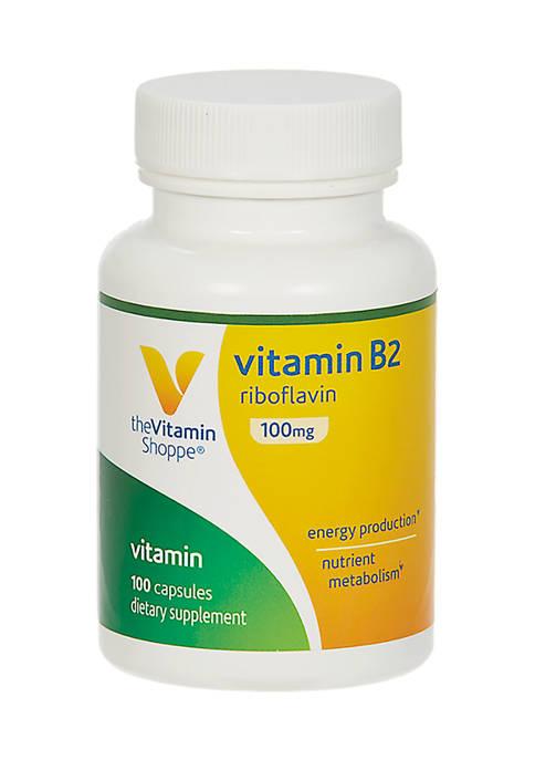 Vitamin B2 Riboflavin - 100 MG (100 Capsules)
