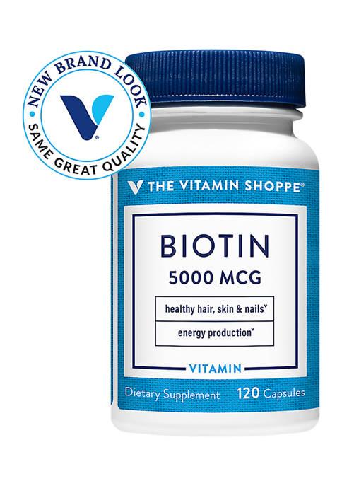 Biotin 5000 mcg (120 Capsules)