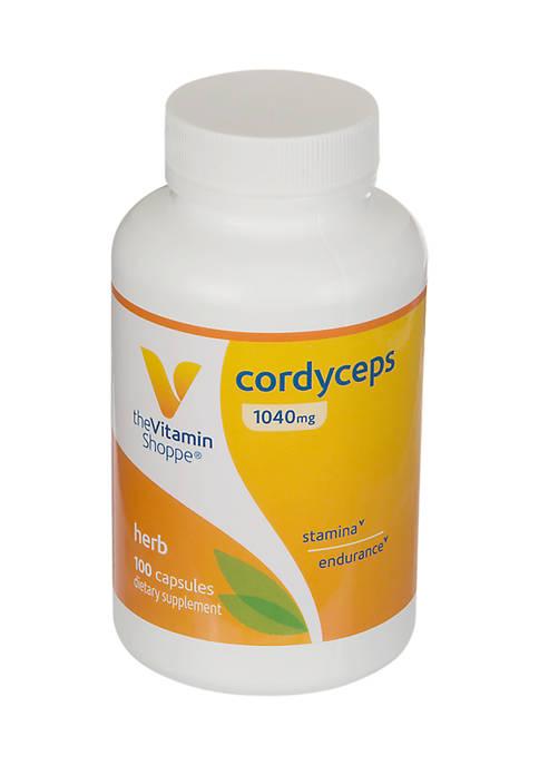 Cordyceps Mushroom Supplement 1,040 MG - Supports Stamina and Endurance (100 Capsules)