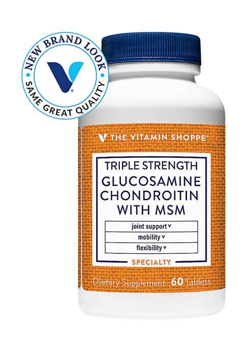 Triple Strength Glucosamine Chondroitin MSM (60 Tablets)