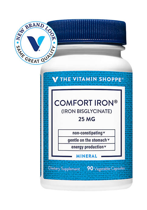 Comfort Iron - Gentle, Non Constipating - 25 MG (90 Vegetarian Capsules)