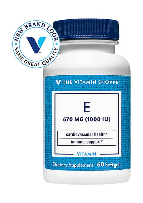 Vitamin E - 1,000 IU (60 Softgels)