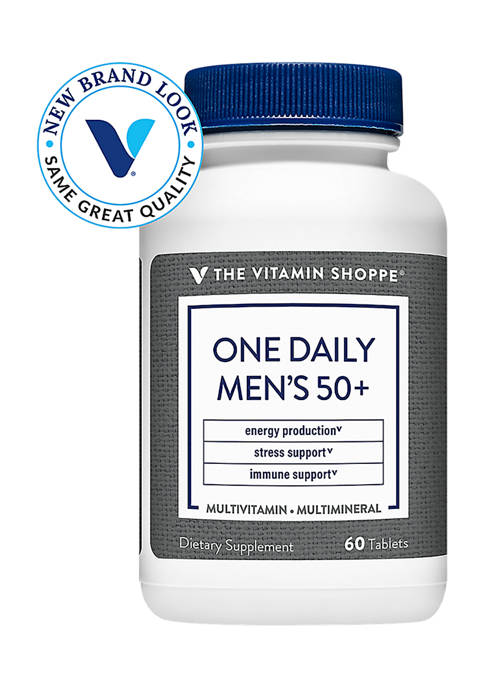 One Daily Mens 50+ Multivitamin & Multimineral with Vitamin D3 (60 Tablets)