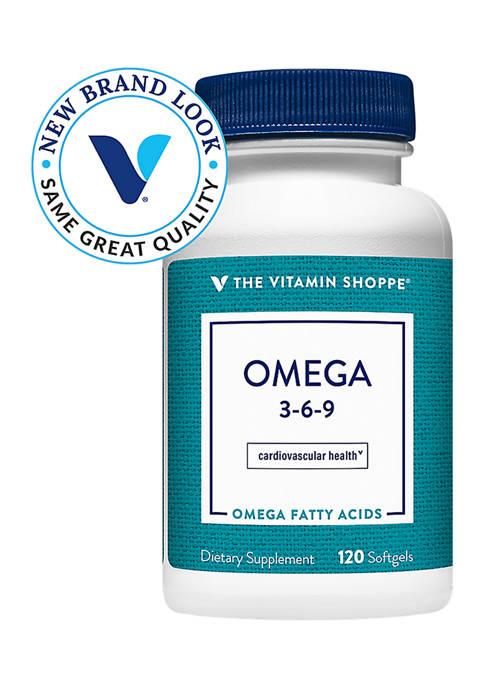 Omega 3-6-9 Essential Fatty Acids (120 Softgels)