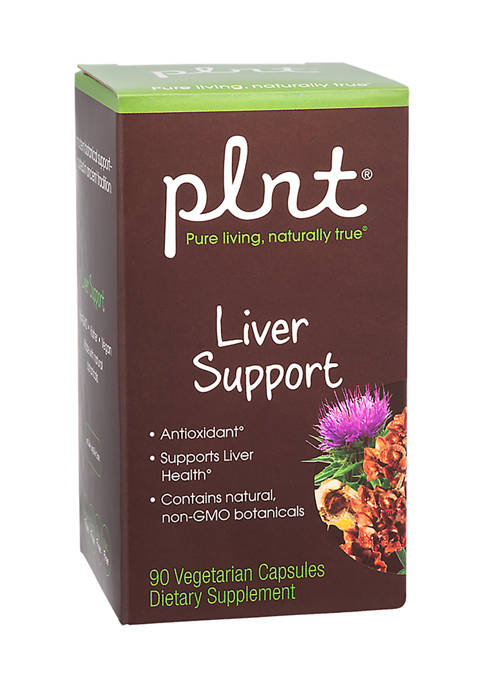 plnt® Liver Support with Natural, Non-GMO Botanicals (90